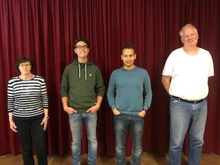 von links: Schriftführerin Renate Sütterlin, 2. Vorstand Stefan Anlicker, 1.Vorstand Daniel Orth, Kassenverwalter Christian Falkenroth.